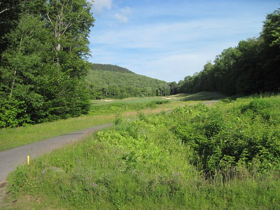 Newry, ME: a long carry to the fairway