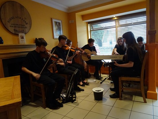 Bonar Bridge, UK: The teenage Ceilidh performers