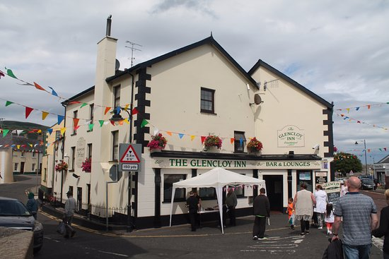 Carnlough, UK: Festival bunting.
