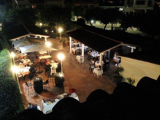 Vidreres, إسبانيا: Cenas en la terraza las noches de verano