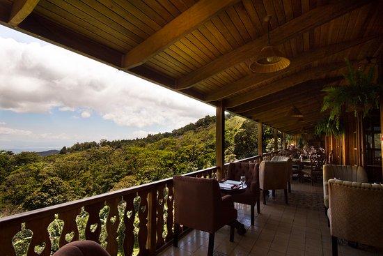 Restaurante Celajes at Hotel Belmar: Balcony facing towards the Nicoya Gulf