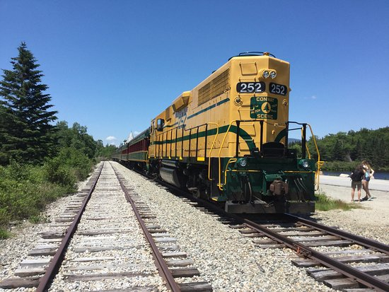 """Conway Scenic Railroad: View of the train after the engine """"runaround""""."""