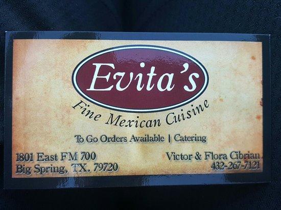 บิกสปริง, เท็กซัส: Evita's Fine Mexican Cuisine