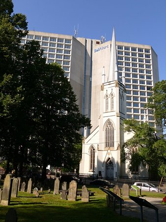 Old Burying Ground: Grounds with St. Matthew's Church in the background