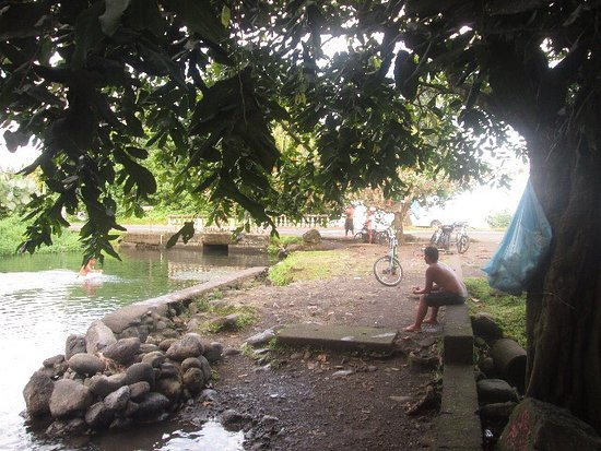 Taravao, French Polynesia: les tikis en pierre sont les gardiens du site
