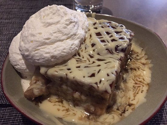 Littleton, MA: Bananas Foster bread pudding