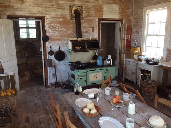 Rodanthe, North Carolina: Interior of 1911 cook house....