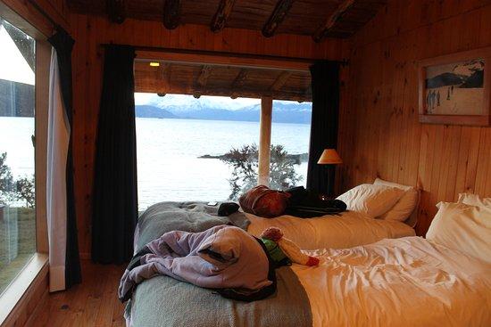Puerto Guadal, Chile: habitaciones con vista al lago General Carrera