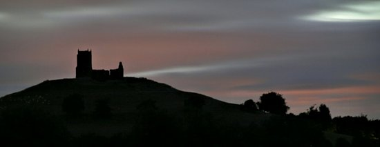 Burrow Mump at night from Hector's Barn