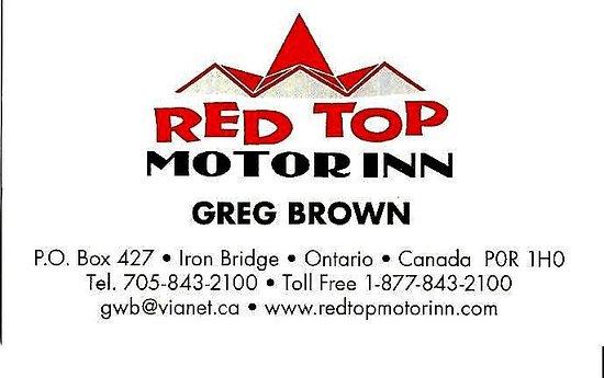 Iron Bridge, Canadá: Carte d'affaire - Greg Brown