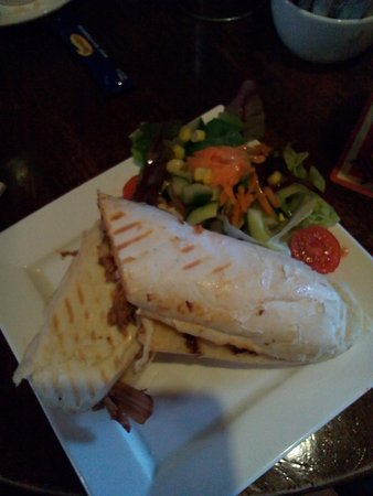 Headford, Irland: Pulled pork panini