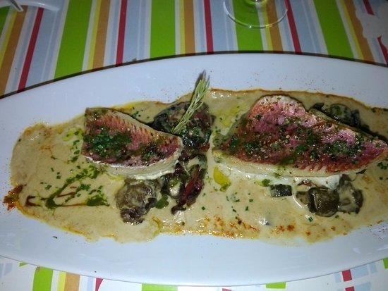 La Bastidonne, France: le plat: le rouget