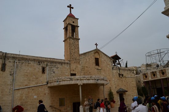 Jordan Valley, Israel: The Orthodox Church of Annunciation and Mary's Well