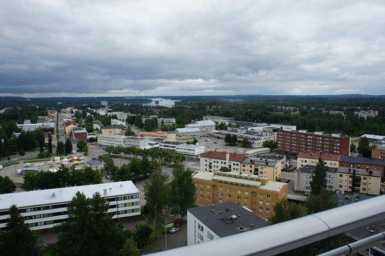 Varkaus, Finlandia: вид сверху на город