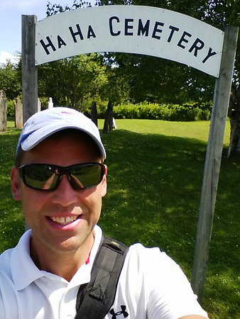 New Horton, Canada: Ha Ha Cemetery Selfie