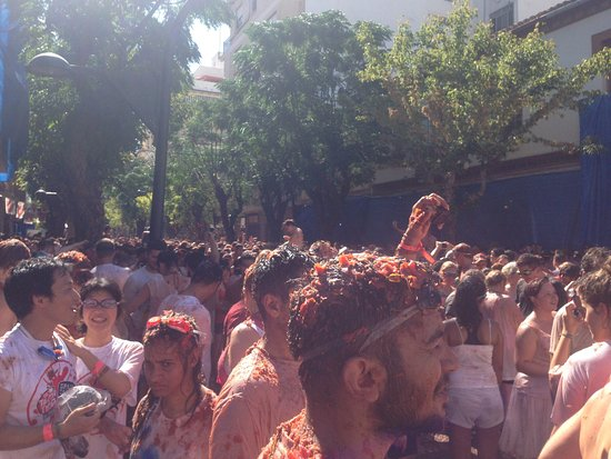 Bunol, Hiszpania: La Tomatina