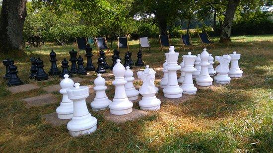Château de Vaux : Jeu d'échecs dans le parc