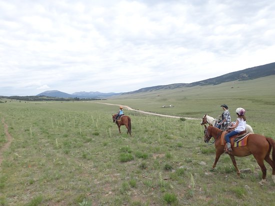Fairplay, CO: Open meadow riding