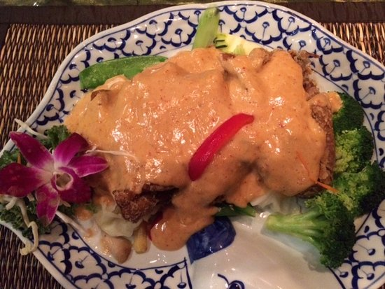 Penang Curry Crispy Duck from Thai Palace