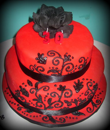 Magnificent Red Black Themed Birthday Cake Picture Of Eat Cake Celebrate Funny Birthday Cards Online Inifodamsfinfo
