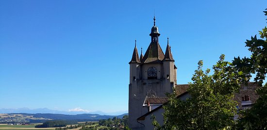 Orbe, Schweiz: Old tower. Site of Roman settlements