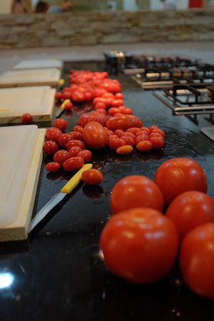 Tomatos Prepping for Sauce
