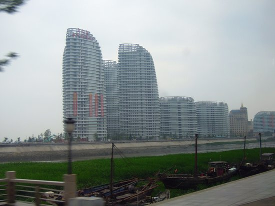 Dandong, China: Moon Island where the hotel is located