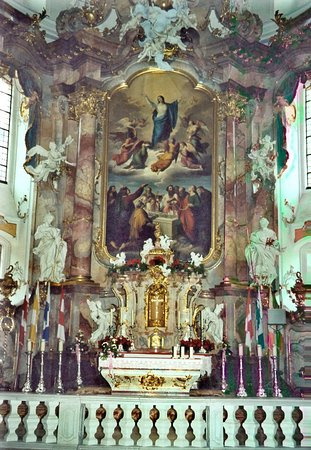 Bad Staffelstein, Germania: Schloss Banz mit Klosterschänke ... Staffelberg mit Adelgundiskapelle und Vierzehnheiligen... Pe