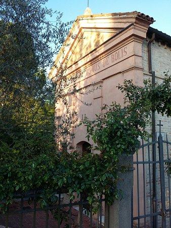 Lugo, Italy: Fronte della Chiesa, inglobata in area privata