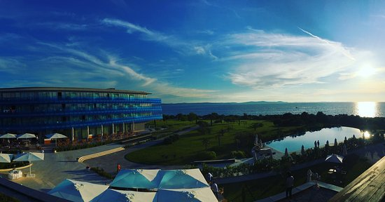 Falkensteiner Hotel & Spa Iadera: Great views - stunning weather and lovely hotel. Recommend the dark spa also