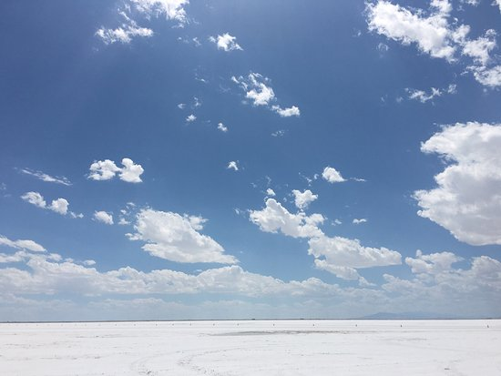Bonneville Salt Flats: There is something amazing about standing on pure flat land