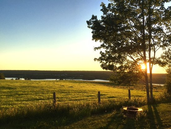 Kingsclear, كندا: St. John River sunset