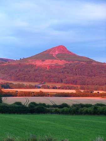 Stokesley, UK: Sun set on Roseberry Topping