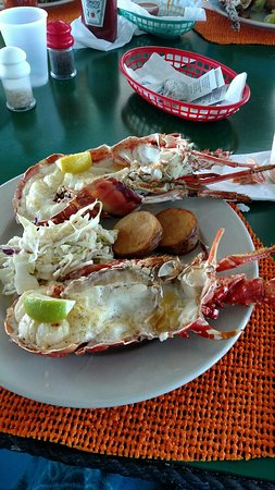Gorda Peak National Park, Virgem Gorda: Lobster dinner on Anegada