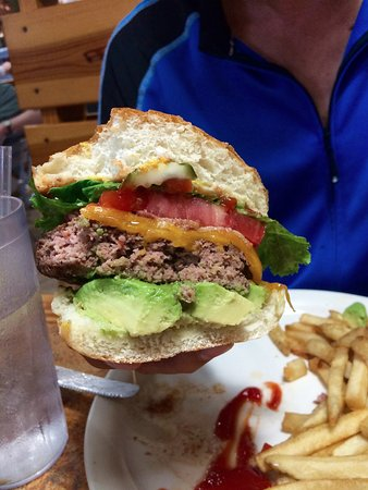 Brooksville, FL: Burger was fresh and generously loaded.