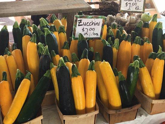 Bank Street Farmer's Market: Zucchini galore