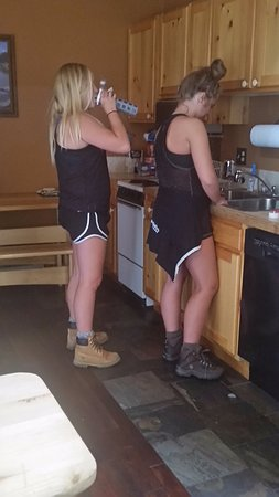 The Lofts: my girls in the kitchen #4