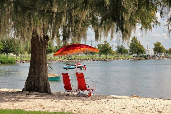 Lake End Park: Shady areas