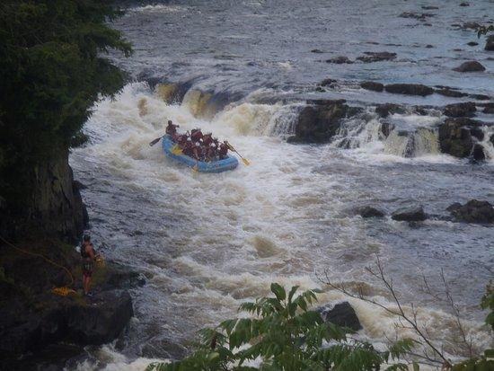 Thornton's Rafting: 10 ft waterfall