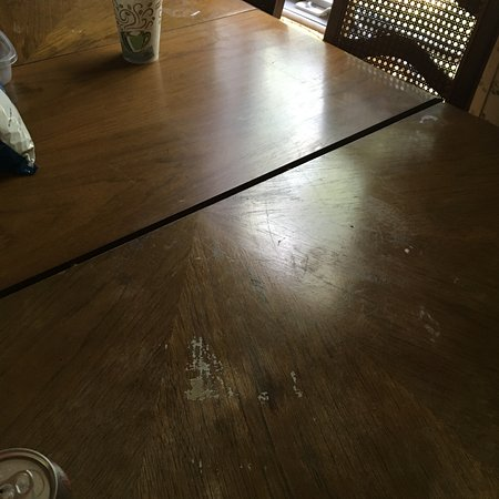 Athelstane, WI: table in the cabin