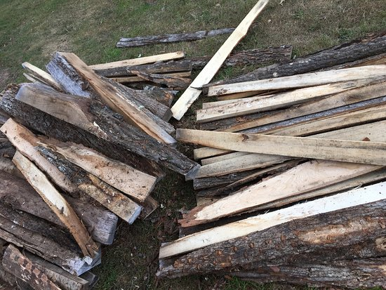 Athelstane, WI: 4ft+ sticks of fier wood -purchased through the resort