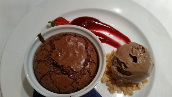 Willowgate Bistro: The perfect chocolate fondant, with homemade Baileys ice cream