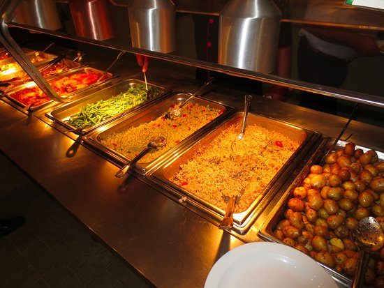 Rosebud, Kanada: buffet hot items
