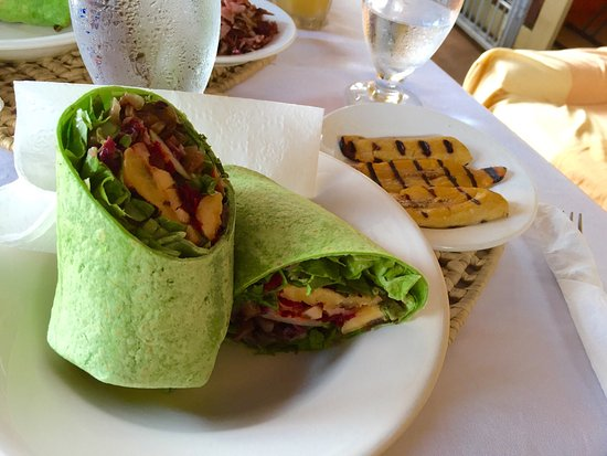 Rockley, Barbados: Vegetable Deluxe Wrap. Absolutely lovely.