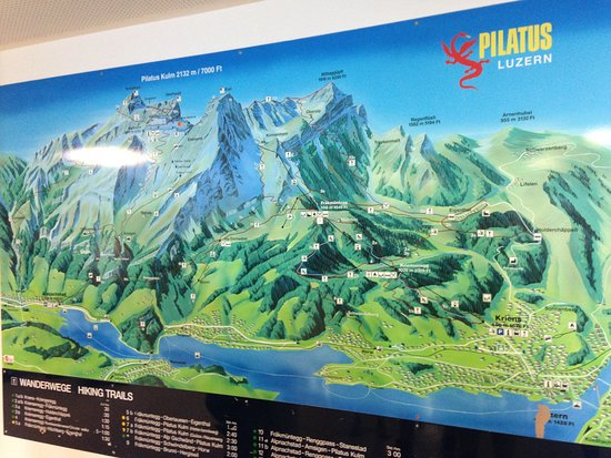Map of Mt Pilatus and surrounding area Picture of Mount Pilatus