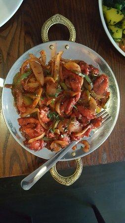 Vijaya Krishna: Chilli Chicken & Chicken Malabar - excellent!