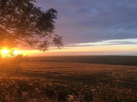 Llanrhian, UK: The sunset from Coastal Stay just beautiful!