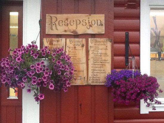 Eidfjord Municipality, Norwegia: Приветливое оформление ресепшн, и потрясающие виды