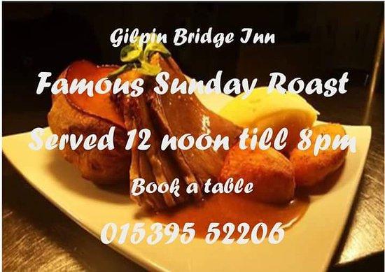 Gilpin Bridge Inn, Levens: Sundays at The Gilpin