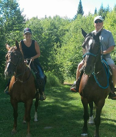 Val-des-Lacs, Canada: Bison Trail Ride (1.5 hours) at Kanatha-Aki, though the Mont Tremblant Activity Center.